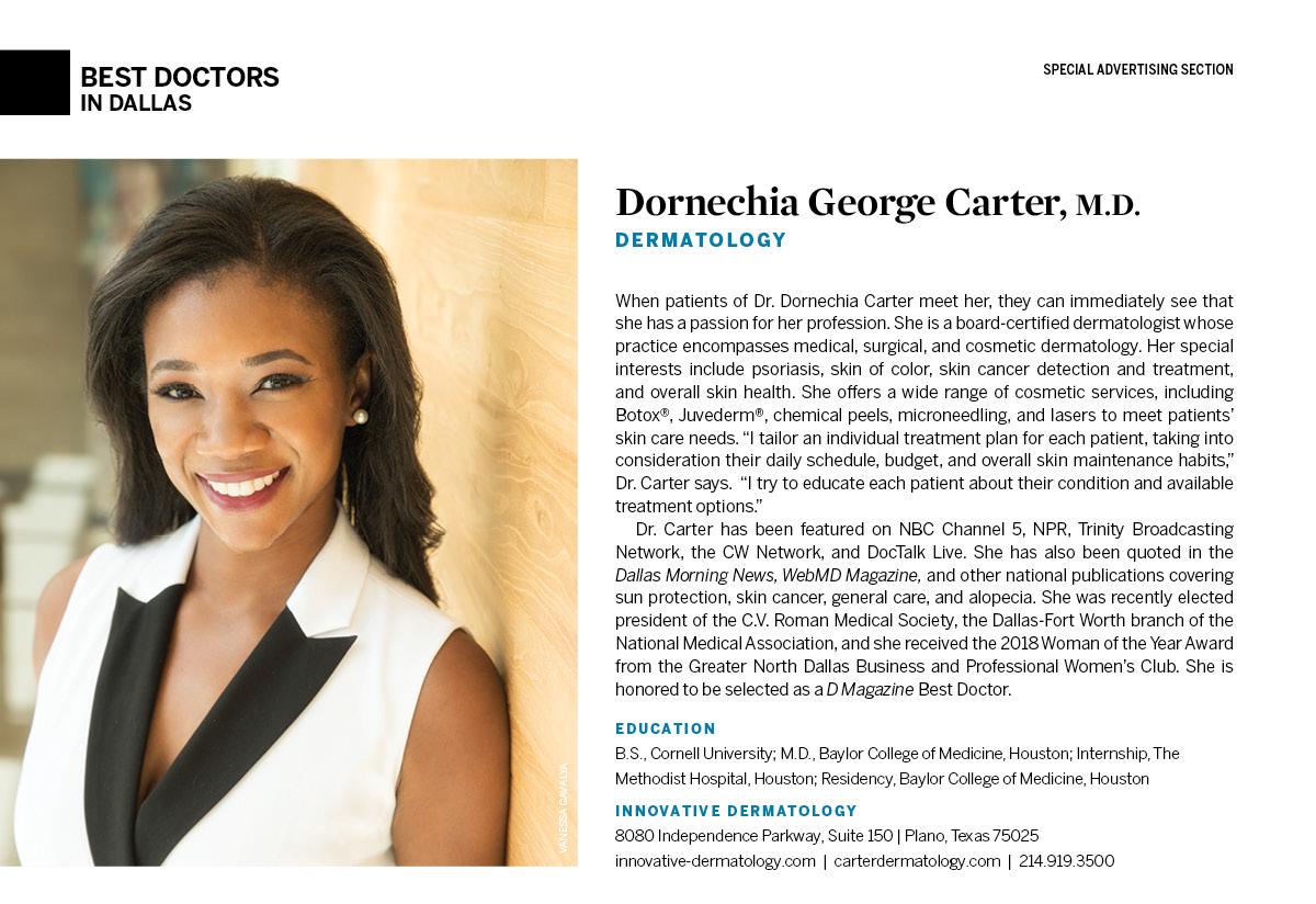 Dornechia George Carter, M D  - Dermatology - Plano | D Magazine