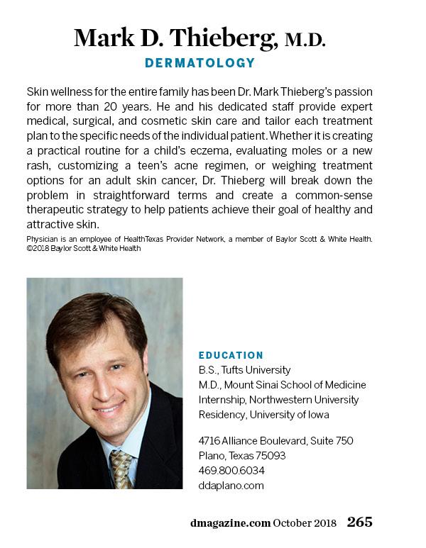 Mark Thieberg, M D  - Dermatology - Plano | D Magazine