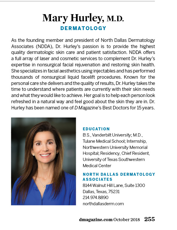 Mary Hurley, M D  - Dermatology - Dallas | D Magazine