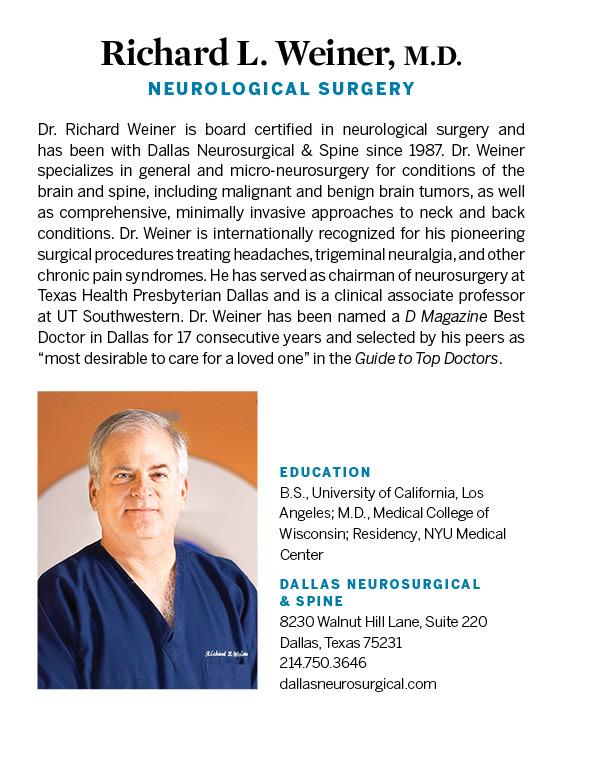 Richard Weiner, M D , F A C S  - Neurosurgery - Dallas   D