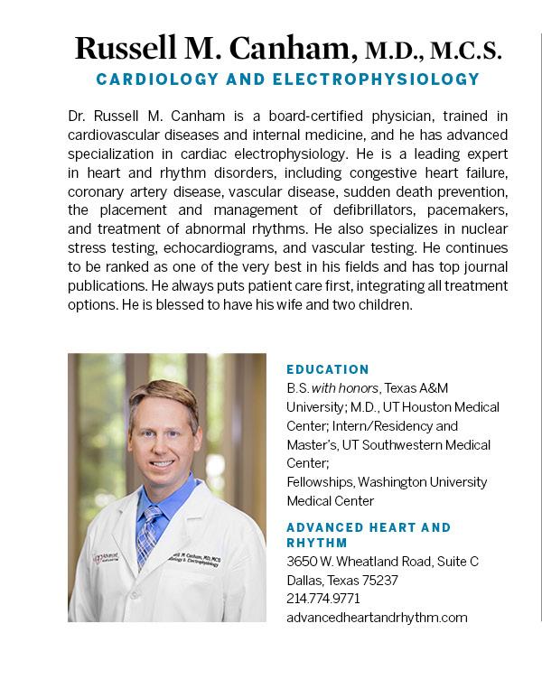 Russell Canham, M D  - Cardiac Electrophysiology - Dallas | D