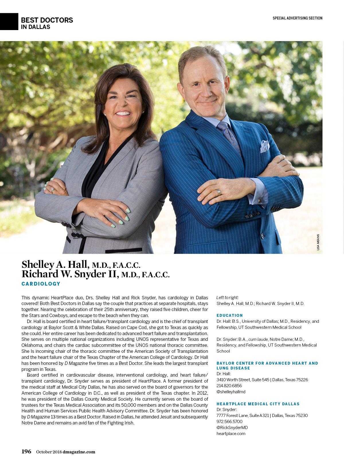 Richard Snyder II, M D , F A C C  - Cardiology - Dallas | D Magazine