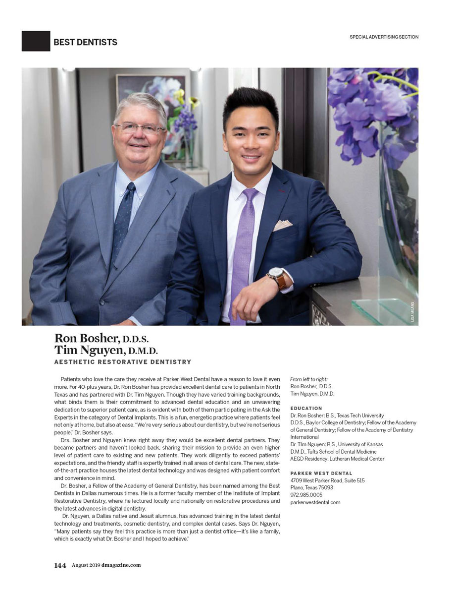 Tim Nguyen, D M D  - Cosmetic Dentistry - Plano   D Magazine